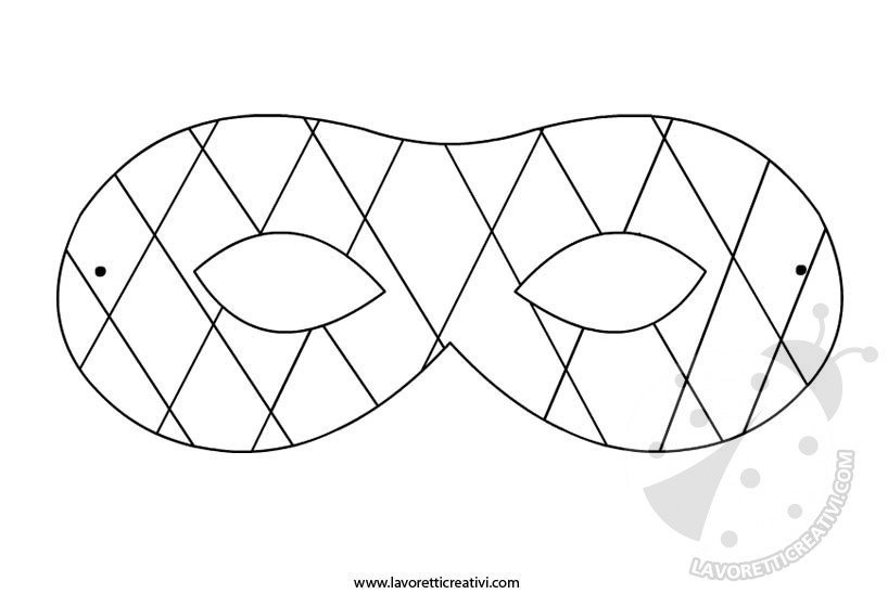 Maschera Di Arlecchino Da Ritagliare