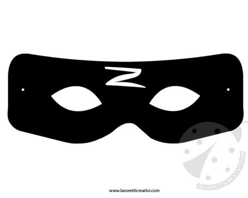 Maschera di zorro da ritagliare for Disegni di zorro da colorare per bambini