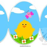 Biglietto di Pasqua con pulcino