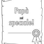 Pergamena con scritta Papà sei speciale!