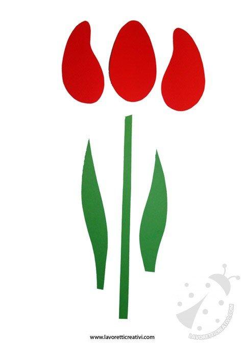 Molto Lavoretti Festa della Mamma - Tulipano HB11