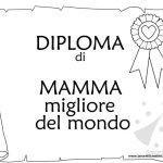 Diploma di Mamma Migliore del Mondo