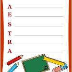 Fine Anno Scolastico – Carta da lettere per maestra