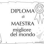 Diploma di Maestra Migliore del Mondo