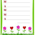 Carta da lettere per la Festa della Mamma
