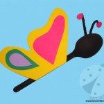Lavoretto con cucchiaio di plastica – Farfalla
