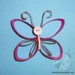Lavoretti con materiale riciclato – Farfalla