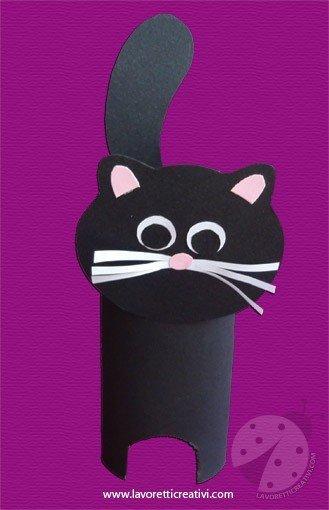Lavoretti Halloween  Gatto nero