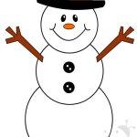 Addobbi invernali – Pupazzo di neve