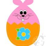 Coniglio di Pasqua: sagome per lavoretto