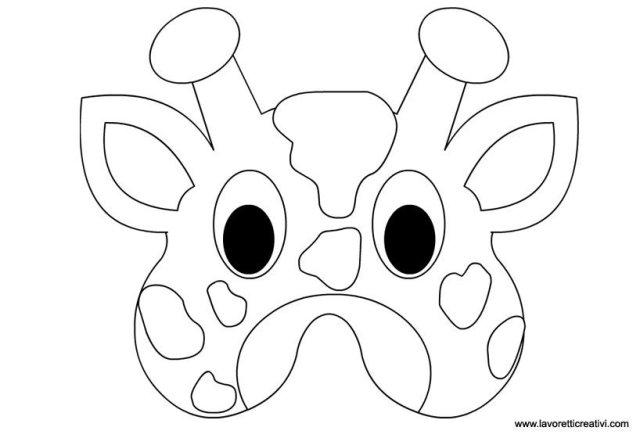 Maschere di animali giraffa lavoretti creativi for Maschere da colorare animali