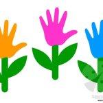 Lavoretti Primavera – Fiore con la sagoma della mano