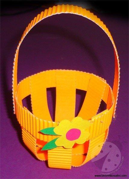 Cestino di Pasqua per bambini  Lavoretti Creativi