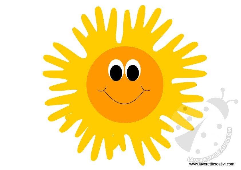 Lavoretti estate sole for Sole disegno da colorare