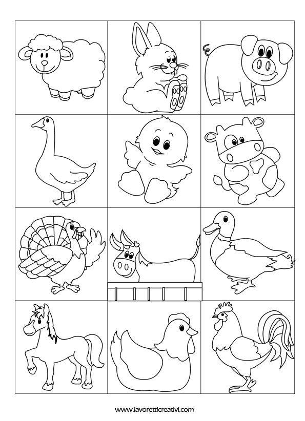 Accoglienza contrassegni animali della fattoria for Fattoria immagini da colorare