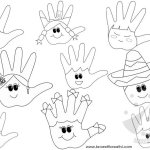 Idee per accoglienza scuola – Mani da colorare