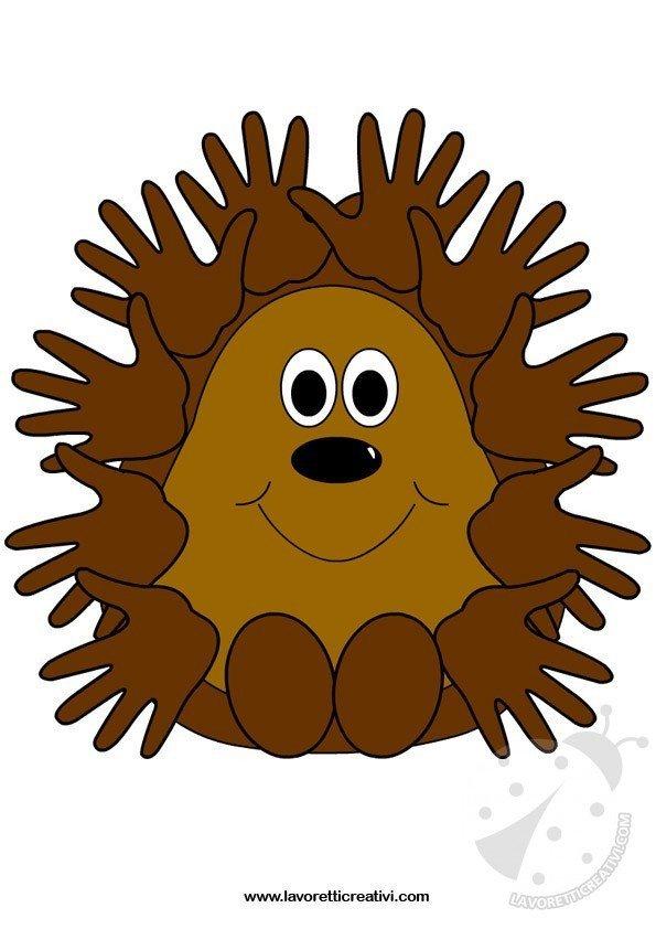 Lavoretti autunno per bambini scuola infanzia riccio for Addobbi autunno scuola infanzia