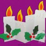 Candele di Natale di carta