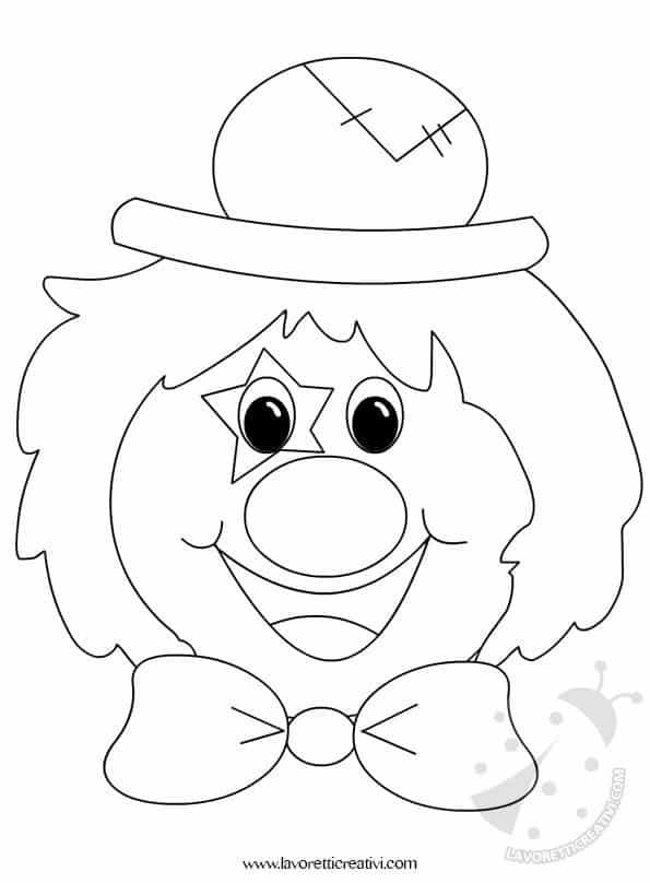 Addobbi carnevale clown for Pagliaccio da disegnare