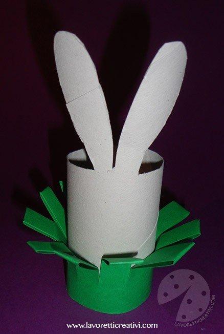 Coniglio con rotolo di carta igienica  Lavoretti Creativi