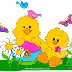 Cartellone di Pasqua