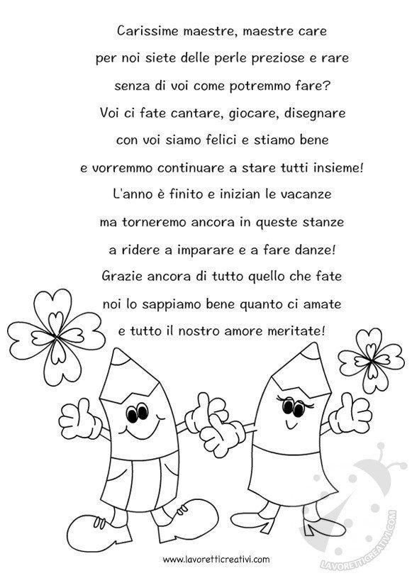 Poesia per maestre for Siti maestre scuola infanzia