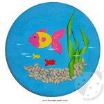 Lavoretti per bambini – Acquario con piatto di carta