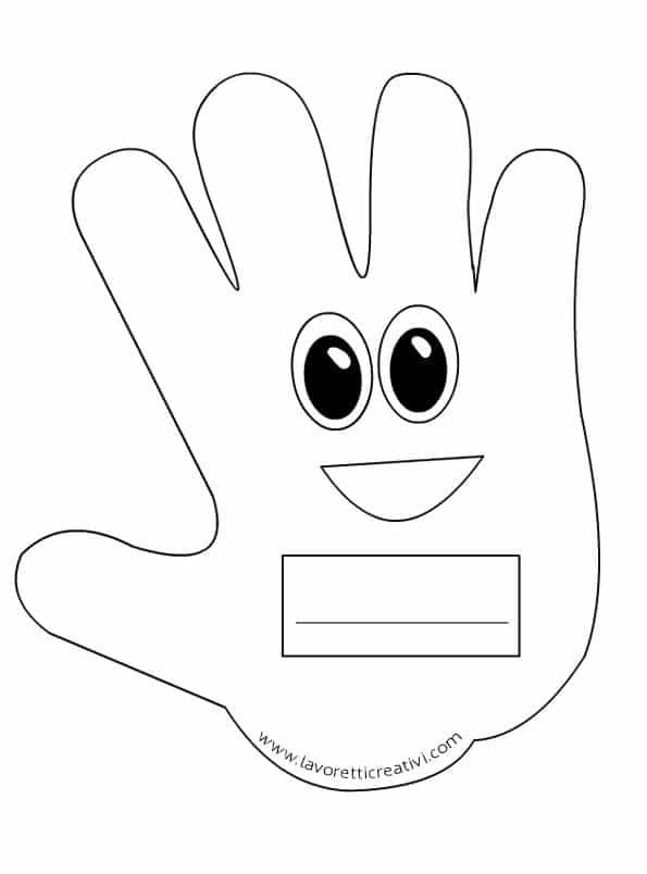 Idee per l 39 accoglienza mani portanome for Lavoretti accoglienza scuola primaria
