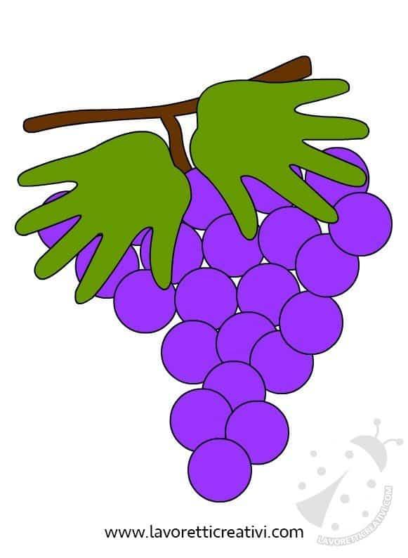 Scuola Infanzia - Idea per realizzare un grappolo d'uva