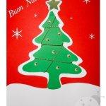 Biglietti Natale fai da te con cartoncini