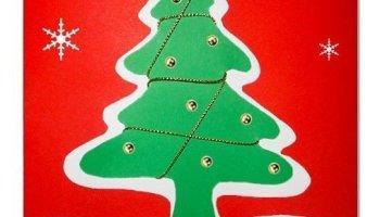Biglietti Di Natale Fai Da Te Con Foto.Biglietto Di Natale Con Striscioline Di Carta Lavoretti Creativi