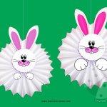 Addobbi Pasqua con la carta – Conigli fisarmonica