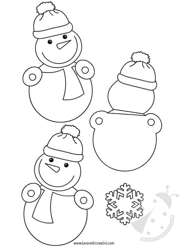 Addobbi invernali scuola pupazzi di neve for Addobbi finestre natale scuola infanzia