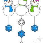 Addobbi invernali scuola – Pupazzi di neve