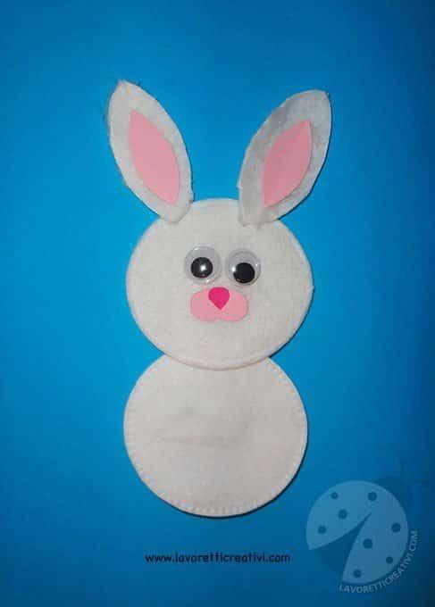 Biglietto di Pasqua con coniglio  Lavoretti Creativi