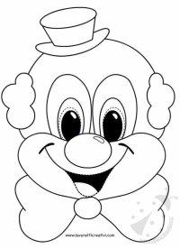 Maschere di Carnevale per bambini - Pagliaccio Lavoretti ...