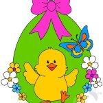Decorazioni di Pasqua – Uovo di Pasqua con pulcino