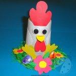 Lavoretti di Pasqua – Gallina con bicchiere di plastica