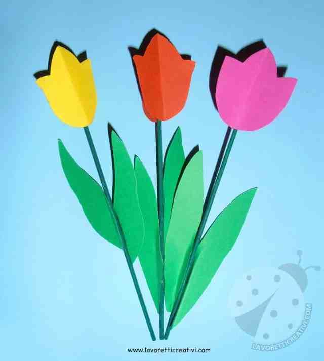 Tulipani in 3d per la Festa della Mamma