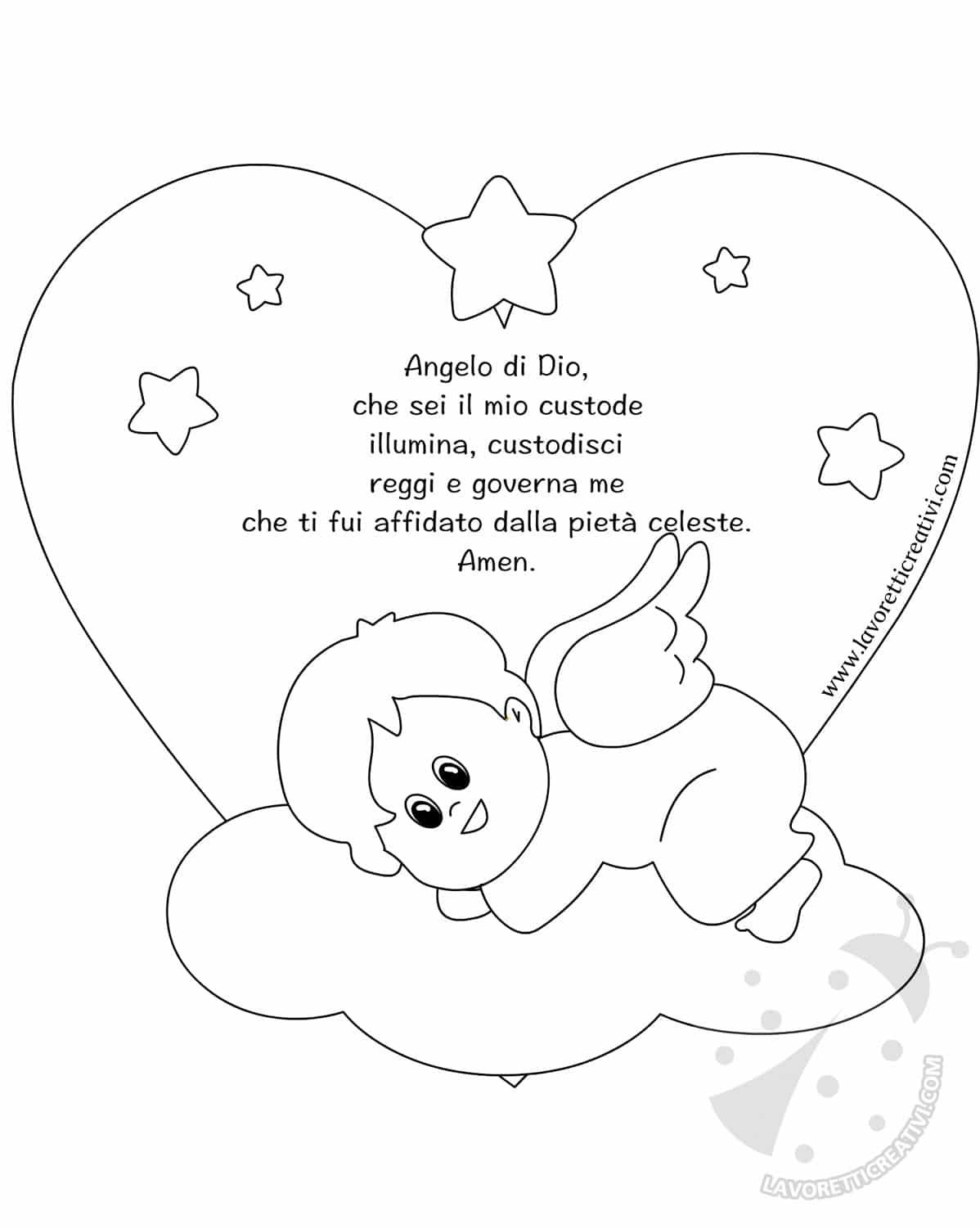 Quadretto Con Nuvola E Angelo Custode Lavoretti Creativi