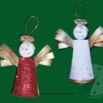 Come fare angeli di Natale con materiali di riciclo