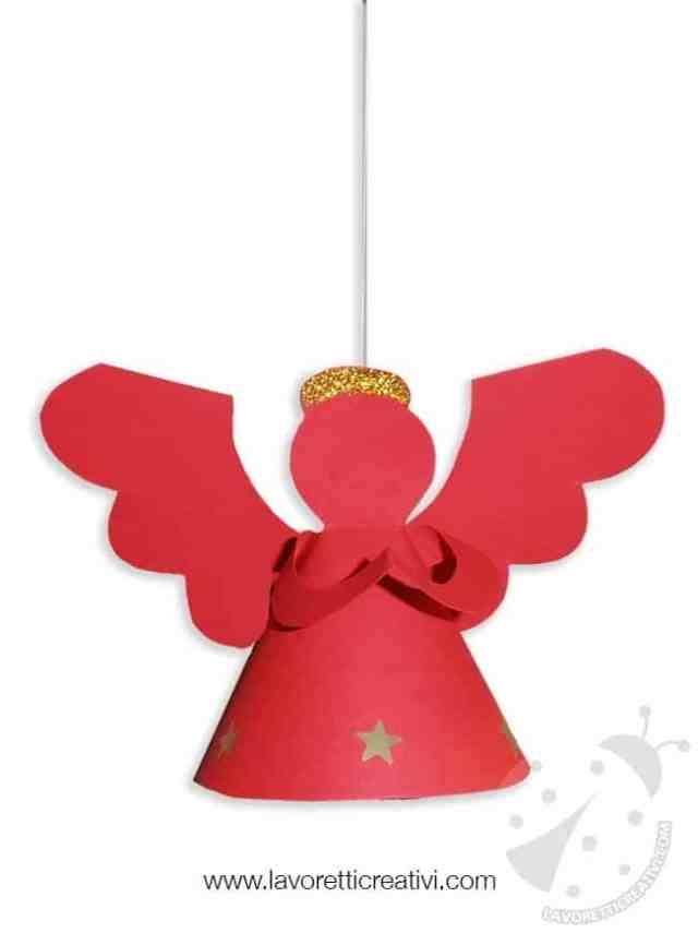 Decorazioni natale angelo 3d da appendere for Decorazioni natalizie per bambini scuola primaria
