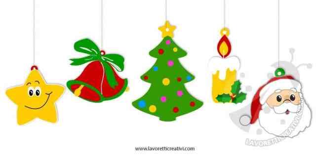 Addobbi di Natale per bambini da stampare e colorare