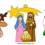 Decorazioni natalizie di carta per bambini