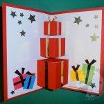 Biglietto pop up di Natale per bambini