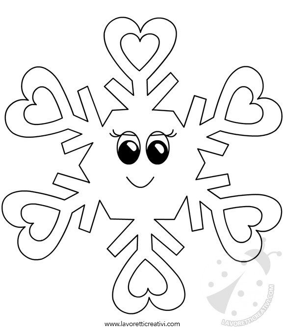 Disegni inverno per bambini fiocchi di neve da colorare - Pagine da colorare di scena di primavera ...