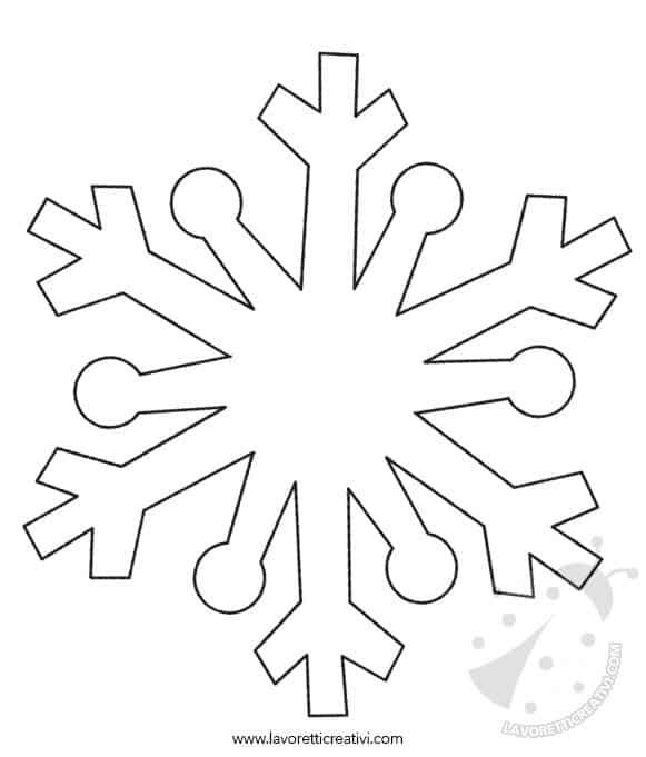 Fiocchi di neve disegni da stampare e ritagliare for Fiocco di neve da ritagliare
