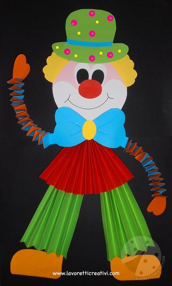 Idee per creare addobbi di Carnevale Pagliaccio giocoliere