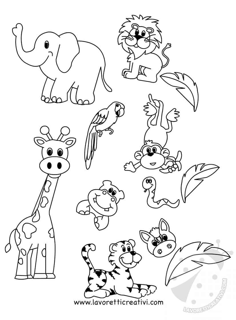 Cartellone scuola infanzia Gli animali della giungla