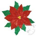 Decorazioni di Natale con gomma crepla Stella di Natale glitter